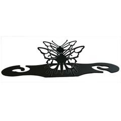 Wrought Iron Butterfly Wine Caddy