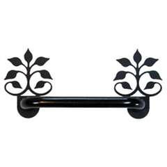Wrought Iron Horizontal Leaf Fan Cabinet Door Handle