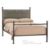 Pictured here is the Wrought Iron Forest Hill Bed with upholstered headboard.
