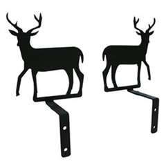 Wrought Iron Deer Curtain Swags