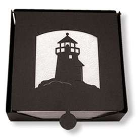 Wrought Iron Lighthouse Napkin Holder (2-piece)