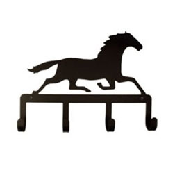 Wrought Iron Running Horse Key Holder