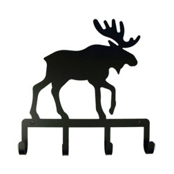 Wrought Iron Moose Key Holder