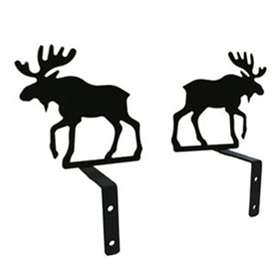 Wrought Iron Moose Curtain Swags