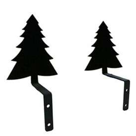 Wrought Iron Pine Tree Curtain Swags