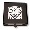 Wrought Iron Victorian Heart Napkin Holder (2-piece)
