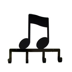 Wrought Iron Music Note Key Holder