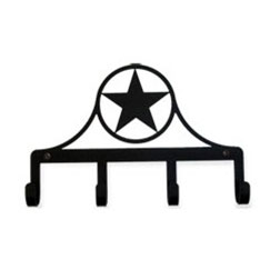 Wrought Iron Wester Star Key Holder
