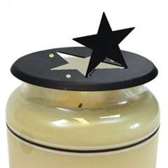Wrought Iron Star Candle Jar Topper