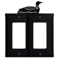 Wrought Iron Loon Double GFI Cover