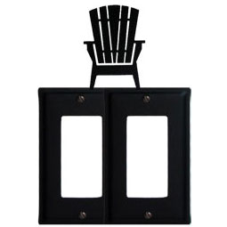 Wrought Iron Adirondack Chair Double GFI