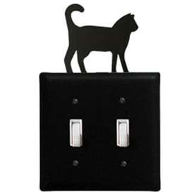 Wrought Iron Cat Switch Cover (Double)