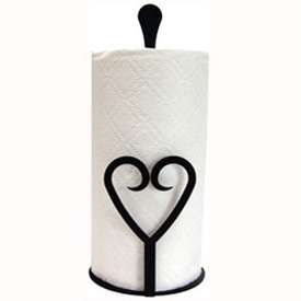 Wrought Iron Heart Paper Towel Stand