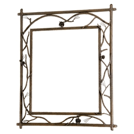 Rustic Pine Branched Wall Mirror
