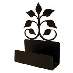 Wrought Iron Leaf Fan Business Card Holder