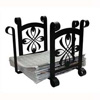 Wrought Iron Bow Recycle Bin