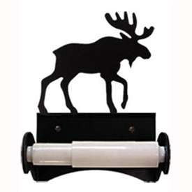 Wrought Iron Moose Toilet Paper Holder (Roller Style)