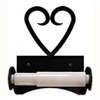 Wrought Iron Heart Toilet Paper Holder (Roller Style)