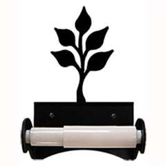 Wrought Iron Leaf Toilet Paper Holder (Roller Style)