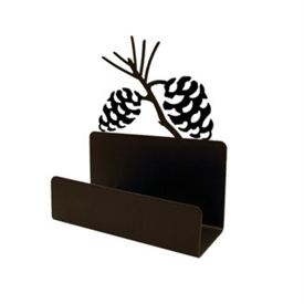 Wrought Iron Pine Cone Business Card Holder
