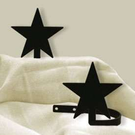 Wrought Iron Star Tie Backs