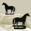 Wrought Iron Standing Horse Tie Backs