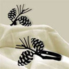 Wrought Iron Pine Cone Tie Backs