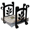 Wrought Iron Leaf Recycle Bin
