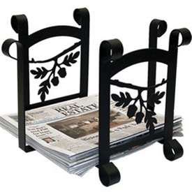 Wrought Iron Acorn Recycle Bin