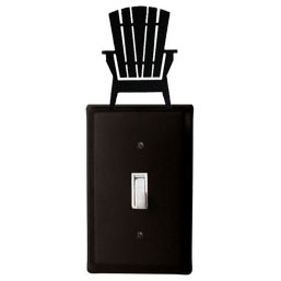 Wrought Iron Adirondack Chairs Switch Plate