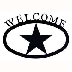 Wrought Iron Star Welcome Sign