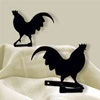 Wrought Iron Rooster Tie Backs