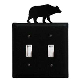 Wrought Iron Bear Switch Cover - Double