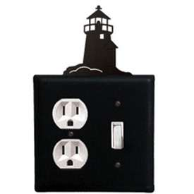 Wrought Iron Lighthouse Outlet & Switch Combination Cover
