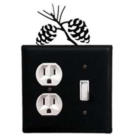 Wrought Iron Pine Cone Outlet & Switch Cover
