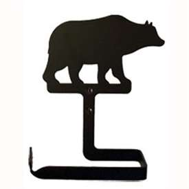 Wrought Iron Bear Toilet Paper Holder (Traditional Style)