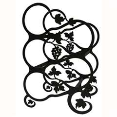Wrought Iron Medium Grapevine Wine Rack