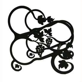 Wrought Iron Small Grapevine Wine Rack