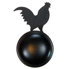 Wrought Iron Rooster Door Knob