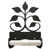 Pictured here is the Roller Style Leaf Fan Toilet Paper Holder with a flat black finish.