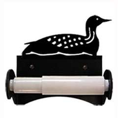 Wrought Iron Loon Toilet Paper Holder (Roller Style)
