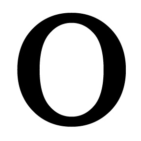 Wrought Iron Letter O