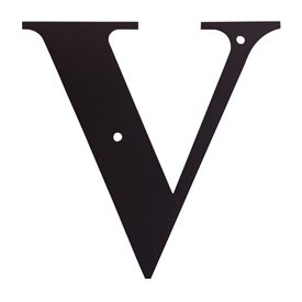 Wrought Iron Letter V
