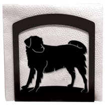 Wrought Iron Dog Napkin Holder