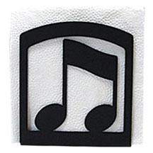 Wrought Iron Music Note Napkin Holder
