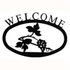 Wrought Iron Grapevine Welcome Sign