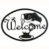 Wrought Iron Bass Welcome Sign