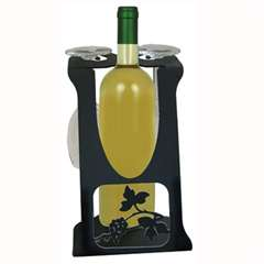 Wrought Iron Wine Caddy (2 glass)