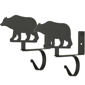 Wrought Iron Bear Curtain Shelf Brackets