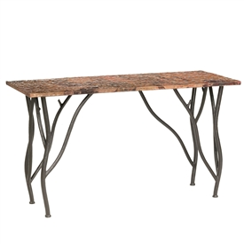 Rustic Woodland Console Table